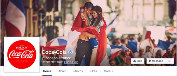 Page Facebook Coca-Cola